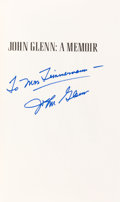Autographs:Celebrities, John Glenn Signed Book: A Memoir. ...