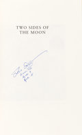 Autographs:Celebrities, Dave Scott Signed Book: Two Sides of the Moon. ...