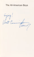Autographs:Celebrities, Walt Cunningham Signed Book: The All-American Boys....