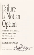 Autographs:Celebrities, Gene Kranz Signed Book: Failure is Not an Option....