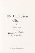 Autographs:Celebrities, Guenter Wendt Signed Book: The Unbroken Chain. ...