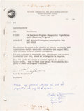 "Explorers:Space Exploration, Dave Scott Signed ""MSC Mission Contingency Investigation Plan"" BookOriginally from His Personal Collection, Certified...."