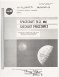 "Explorers:Space Exploration, Buzz Aldrin Signed KSC ""Spacecraft Test And Checkout Procedures"" Book. ..."