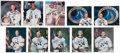 Autographs:Celebrities, Apollo Astronauts: Individually-Signed White Spacesuit Color Photos (Eighteen) plus Two Mercury Signed Photos, All Uninscribed...