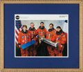 Autographs:Celebrities, Space Shuttle Columbia (STS-93) Crew-Signed Color Photo:Collins (First Female Commander), Ashby, Tognini, Hawley,...