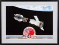 Explorers:Space Exploration, Apollo-Soyuz Test Project: Limited Edition Lithograph, #1280/1500,Signed by Four, in Framed Display. ...