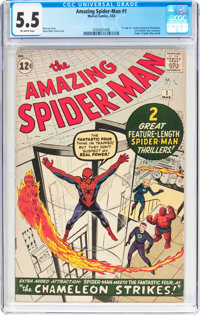 The Amazing Spider-Man #1 (Marvel, 1963) CGC FN- 5.5 Off-white pages