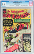 Silver Age (1956-1969):Superhero, The Amazing Spider-Man #14 (Marvel, 1964) CGC NM+ 9.6 Cream to off-white pages....