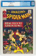 Silver Age (1956-1969):Superhero, The Amazing Spider-Man #27 (Marvel, 1965) CGC NM 9.4 Cream tooff-white pages....