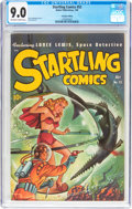 Golden Age (1938-1955):Science Fiction, Startling Comics #52 Canadian Edition (Better Publications, 1948)CGC VF/NM 9.0 Off-white to white pages....
