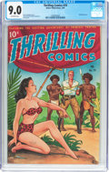 Golden Age (1938-1955):Adventure, Thrilling Comics #70 (Better Publications, 1949) CGC VF/NM 9.0 Off-white pages....