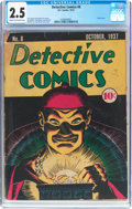 Platinum Age (1897-1937):Miscellaneous, Detective Comics #8 (DC, 1937) CGC GD+ 2.5 Cream to off-whitepages....