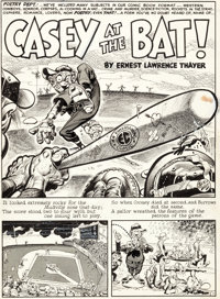 "Jack Davis MAD #6 Complete 6-Page Story ""Casey at the Bat!"" Original Art (EC, 1953).... (Total: 6 Original Art..."