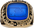 Baseball Collectibles:Others, 1987 Gary Carter All-Star Game Ring from The Gary CarterCollection....