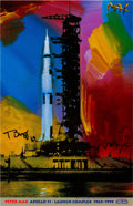 "Autographs:Celebrities, Buzz Aldrin and Peter Max Signed ""Apollo 11 - Launch Complex1969/1999"" Print, Originally from Aldrin's Personal Collection...."