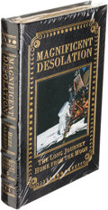 Autographs:Celebrities, Buzz Aldrin Signed Leather-Bound Limited Edition Book (StillSealed): Magnificent Desolation, Originally from His ...