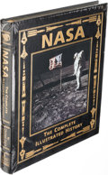Autographs:Celebrities, Buzz Aldrin Signed Leather-Bound Limited Edition Book (Still Sealed): NASA, The Complete Illustrated History, Orig...