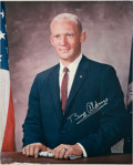 Autographs:Celebrities, Buzz Aldrin Signed Large NASA Color Portrait Originally from HisPersonal Collection. ...