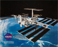 Autographs:Celebrities, Buzz Aldrin Signed Large International Space Station Color PhotoOriginally from His Personal Collection. ...