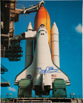 Autographs:Celebrities, Buzz Aldrin Signed Large Space Shuttle Endeavour Color PhotoOriginally from His Personal Collection. ...
