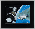 "Explorers:Space Exploration, Ed Hengeveld Signed ""Saving Skylab"" Print in Framed Display,Inscribed to and Directly from the Personal Collection ofMission..."