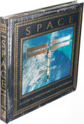 Explorers:Space Exploration, Andrew Chaikin Leather-Bound Limited Edition Book (Still Sealed):Space. A History of Space Exploration Photography,...