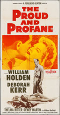 """Movie Posters:War, The Proud and Profane & Others Lot (Paramount, 1956). ThreeSheet (41"""" X 78"""") & One Sheets (5) (27"""" X 41""""). War.. ...(Total: 6 Items)"""