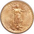 Saint-Gaudens Double Eagles, 1908-D $20 No Motto MS65 PCGS....