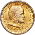 Commemorative Gold, 1922 G$1 Grant Gold Dollar, With Star, MS67+ PCGS. CAC....