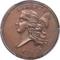 Half Cents, 1793 1/2 C C-3, B-3, R.3, MS62 Brown PCGS....