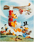 Memorabilia:Disney, Carl Barks Flubbity Dubbity Duffer Signed Numbered Limited Edition Miniature Lithograph Print #144/595 (Another Ra...