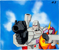 Transformers: the Movie Production Cel and Painted Background Setup (Sunbow Productions, Inc., 1986)