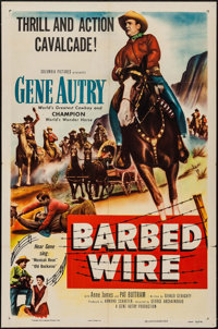 "Barbed Wire & Other Lot (Columbia, 1952). One Sheets (2) (27"" X 41""). Western. ... (Total: 2 Items)"