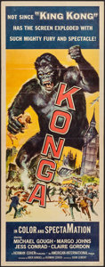 "Movie Posters:Science Fiction, Konga (American International, 1961). Insert (14"" X 36""). ScienceFiction.. ..."