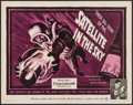 """Movie Posters:Science Fiction, Satellite in the Sky (Warner Brothers, 1956). Half Sheet (22"""" X 28""""). Science Fiction.. ..."""