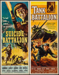 "Movie Posters:War, Suicide Battalion & Other Lot (American International, 1958).Inserts (2) (14"" X 36""). War.. ... (Total: 2 Items)"