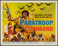 "Movie Posters:War, Paratroop Command & Other Lot (American International, 1959).Half Sheet (22"" X 28"") & Belgian Poster (11.5"" X 19.5"").War.... (Total: 2 Items)"