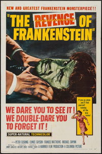 "The Revenge of Frankenstein (Columbia, 1958). One Sheet (27"" X 41""). Horror"