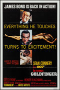 "Movie Posters:James Bond, Goldfinger (United Artists, R-1980). One Sheet (27"" X 41""). James Bond.. ..."