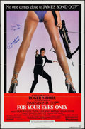"""Movie Posters:James Bond, For Your Eyes Only (United Artists, 1981). Autographed One Sheet (27"""" X 41""""). James Bond.. ..."""
