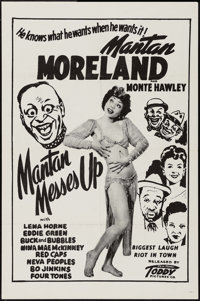 """Mantan Messes Up (Toddy Pictures, 1946). One Sheet (27"""" X 41""""). Black Films"""