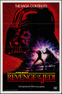 "Revenge of the Jedi (20th Century Fox, 1982). One Sheet (27"" X 41"") Dated Style. Science Fiction"