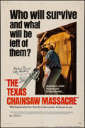 """Movie Posters:Horror, The Texas Chainsaw Massacre (Bryanston, 1974). Autographed One Sheet (27"""" X 41""""). Horror.. ..."""