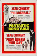 "Movie Posters:James Bond, Thunderball/From Russia with Love Combo (United Artists, R-1968).One Sheet (27"" X 41""). James Bond.. ..."