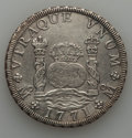 Mexico, Mexico: Charles III Pillar 8 Reales 1771 Mo-FM XF - Whizzed,...