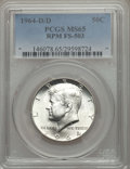 Kennedy Half Dollars, 1964-D/D 50C Repunched Mintmark, FS-503, MS65 PCGS. PCGSPopulation: (10/4). Mintage 156,205,440....