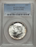 Kennedy Half Dollars, 1964-D/D 50C Repunched Mintmark, FS-502, MS65 PCGS. PCGSPopulation: (7/0). Mintage 156,205,440....