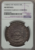 Mexico, Mexico: Ferdinand VI Pillar 8 Reales 1748 Mo-MF AU Details(Excessive Surface Hairlines) NGC,...