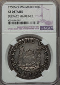 Mexico, Mexico: Ferdinand VI 8 Reales 1758 Mo-MM XF Details (SurfaceHairlines) NGC,...