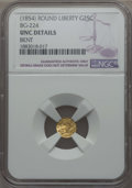 California Fractional Gold , Undated 25C Liberty Round 25 Cents, BG-224, R.3, -- Bent -- NGCDetails. UNC. NGC Census: (0/47). PCGS Population: (6/186)....